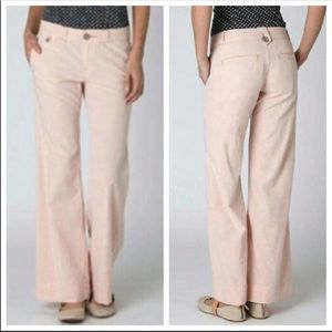 Anthropologie 100% Cotton Pink trouser slacks 25
